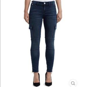 TRUE RELIGION Cargo Super Skinny Denim Jeans